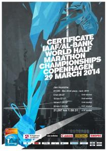Diplom VM Halvmarathon 2014